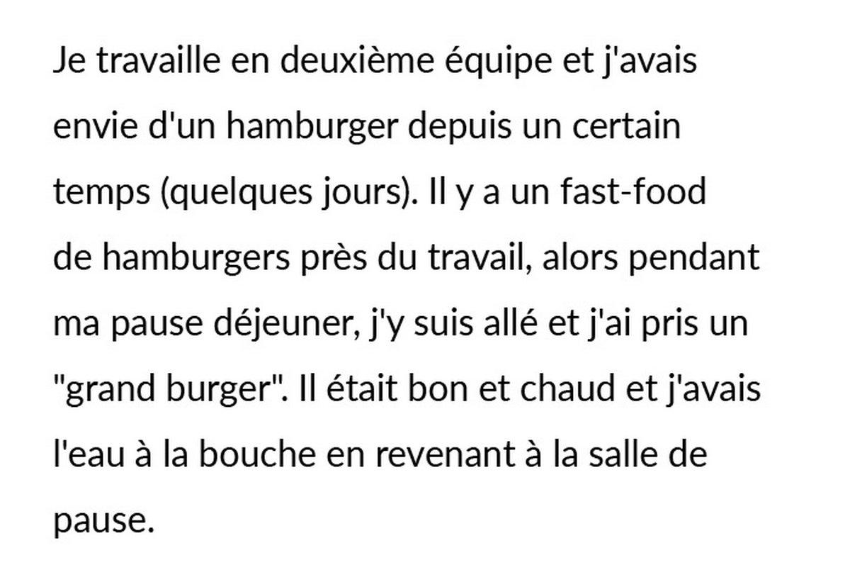 Une personne lance un débat en ligne après que sa collègue végane lui a demandé de manger un hamburger à l'extérieur