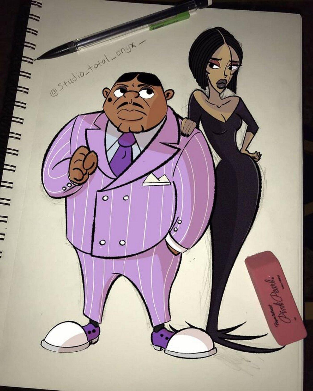 Cet artiste réinvente des dessins animés célèbres avec des personnages noirs pour sensibiliser les gens