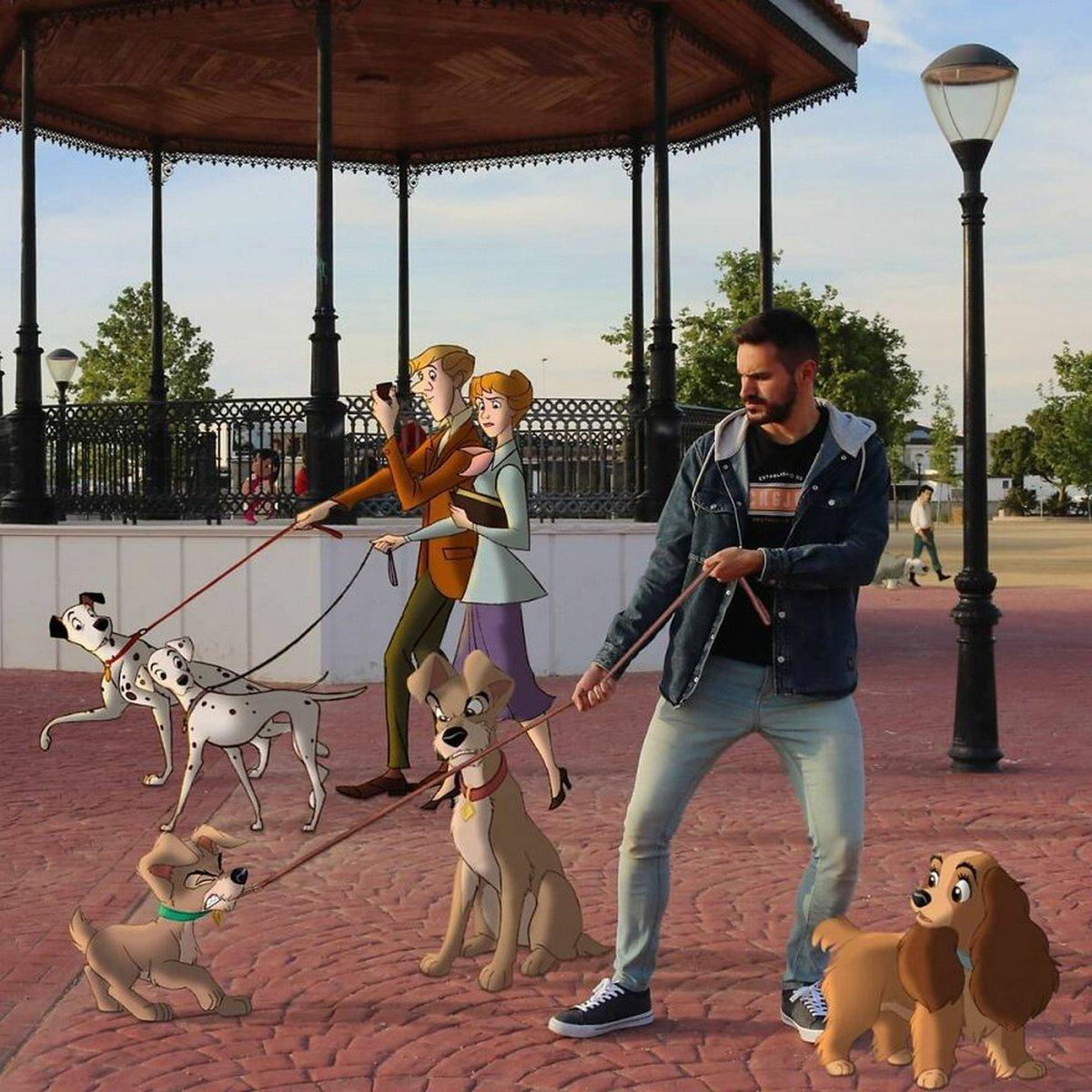 Cet homme continue d'insérer des personnages Disney dans ses photos et on dirait qu'ils s'amusent comme des fous