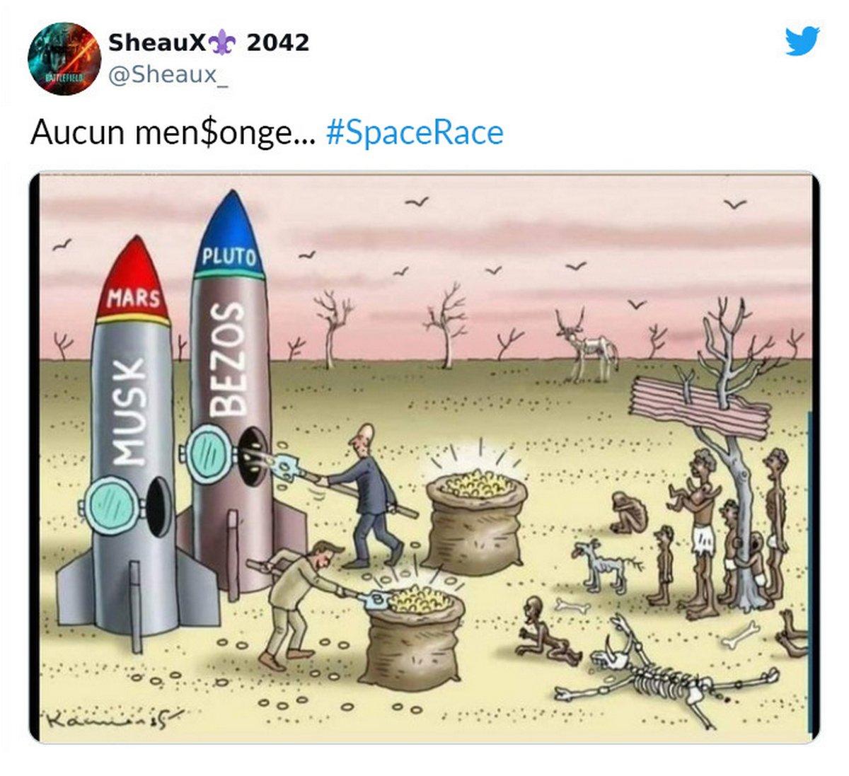 «Ils pourraient éliminer la faim dans le monde, mais ils font la course à l'espace à la place» : 11 réactions honnêtes à la course à l'espace des milliardaires