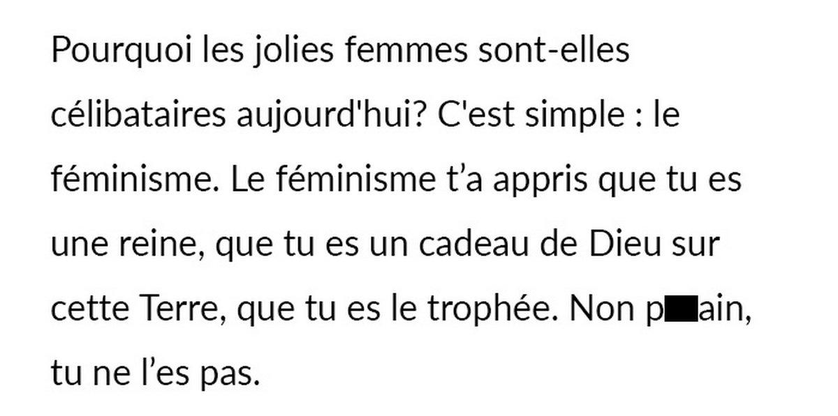 Un «mâle alpha» autoproclamé explique que les femmes sont célibataires à cause du féminisme et se fait démolir dans les commentaires