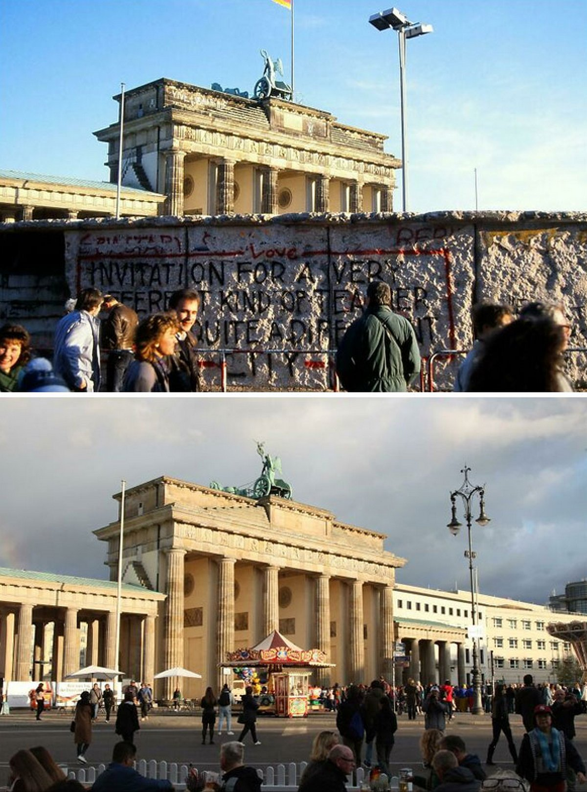 Des gens partagent des photos d'hier et d'aujourd'hui pour montrer comment le temps change les choses