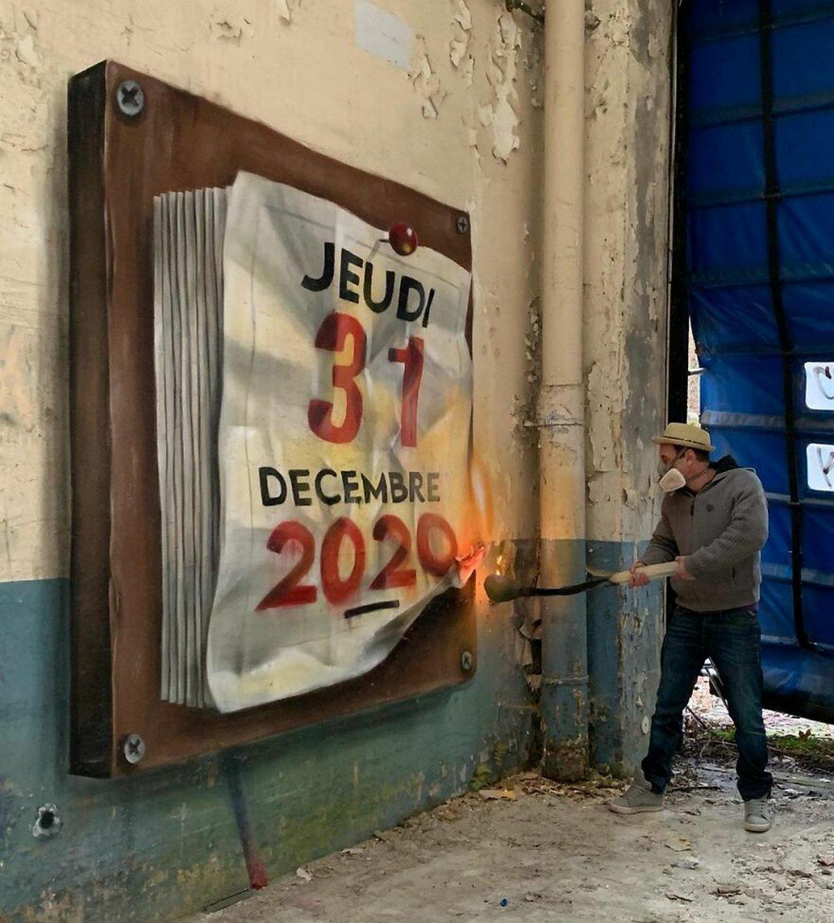 Ce street artiste français peint des graffitis de créatures 3D et ce n'est pas pour les âmes sensibles